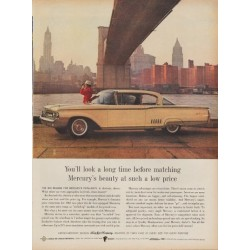 "1960 Ford Mercury Ad ""You'll Look A Long Time"""