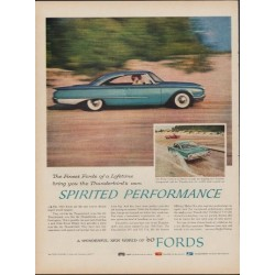 "1960 Ford Thunderbird Ad ""Spirited Performance"""
