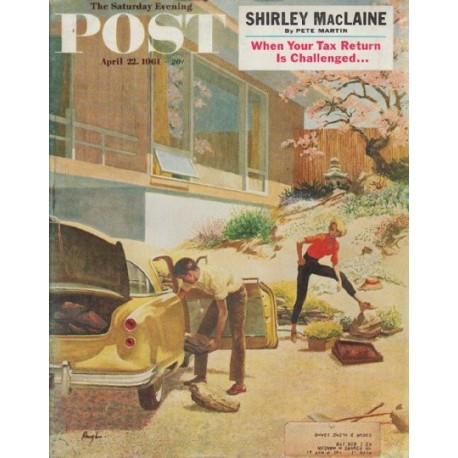 """1961 Saturday Evening Post Cover Page """"rock gardens"""""""