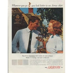 "1961 Arrow Shirt Ad ""Wherever you go"""