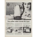 "1960 GE Coffee Maker Ad ""Peek-A-Brew"""