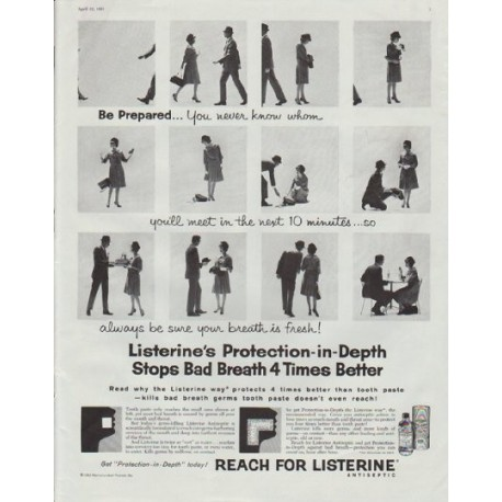 "1961 Listerine Ad ""Be Prepared"""