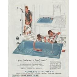 """1961 Kohler of Kohler Ad """"bathroom a family room"""""""