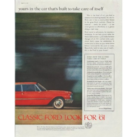"""1961 Ford Ad """"beyond the call of duty"""""""