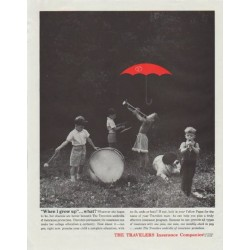 "1961 The Travelers Insurance Companies Ad ""When I grow up"""