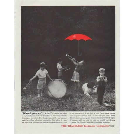 """1961 The Travelers Insurance Companies Ad """"When I grow up"""""""