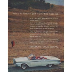 "1961 Plymouth Ad ""long-range plan"""