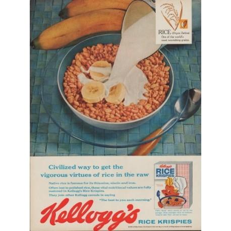 "1960 Kellogg's Rice Krispies Ad ""Civilized Way"""