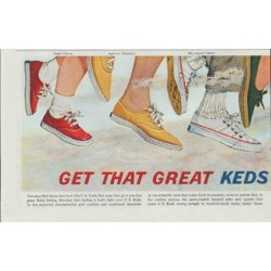 "1961 Keds Shoes Ad ""Great Keds Feeling"""