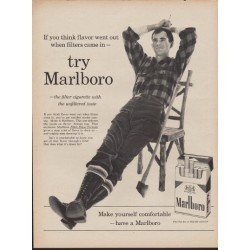 "1960 Marlboro Cigarettes Ad ""Filters Came In"""