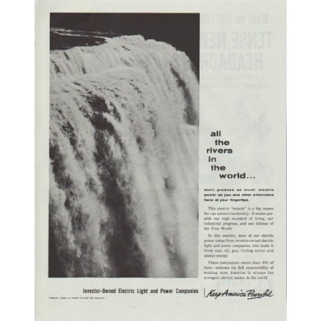 """1961 Electric Light and Power Companies Ad """"all the rivers"""""""