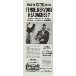 "1961 Anacin Ad ""What do Doctors do"""