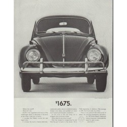 "1961 Volkswagen Ad ""$1675"" ~ (model year 1961)"