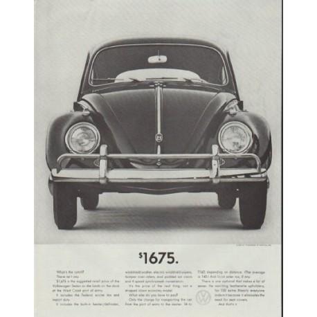 """1961 Volkswagen Ad """"$1675"""" ~ (model year 1961)"""