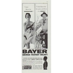 "1961 Bayer Aspirin Ad ""Fastest Relief"""