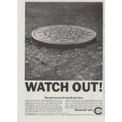 "1961 Chemstrand Ad ""Watch Out"""