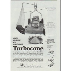 "1961 Jacobsen Lawn Mower Ad ""Turbocone"""
