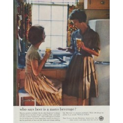 "1961 United States Brewers Association Ad ""who says"""