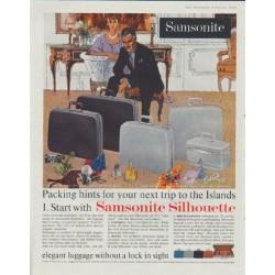 "1961 Samsonite Ad ""Packing hints"""
