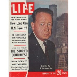 "1961 LIFE Magazine Cover Page ""Embattled Dag"""