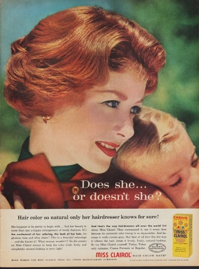 Image result for Clairol, 1956 ad
