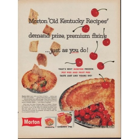 "1960 Morton Pie Ad ""Old Kentucky Recipes"""