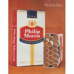 "1961 Philip Morris Cigarettes Ad ""tasty newcomer"""
