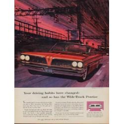 "1961 Pontiac Ad ""driving habits"""