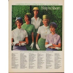 "1961 Ship 'n Shore Ad ""suggestion of luxury"""