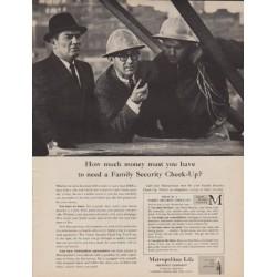 "1961 Metropolitan Life Ad ""How much money"""