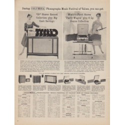 "1961 Columbia Phonographs Ad ""Music Festival"""