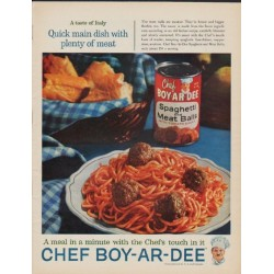 "1961 Chef Boy-Ar-Dee Ad ""A taste of Italy"""
