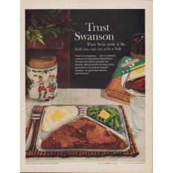 "1961 Swanson TV Dinner Ad ""Trust Swanson"""