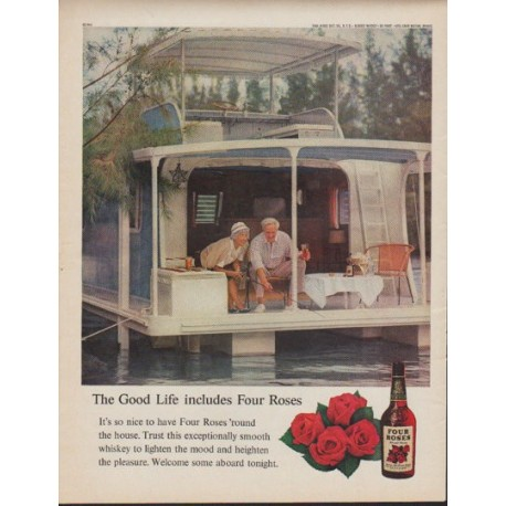 "1961 Four Roses Whiskey Ad ""The Good Life"""