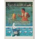 "1961 Newport Cigarettes Ad ""Newport refreshes while you smoke"""