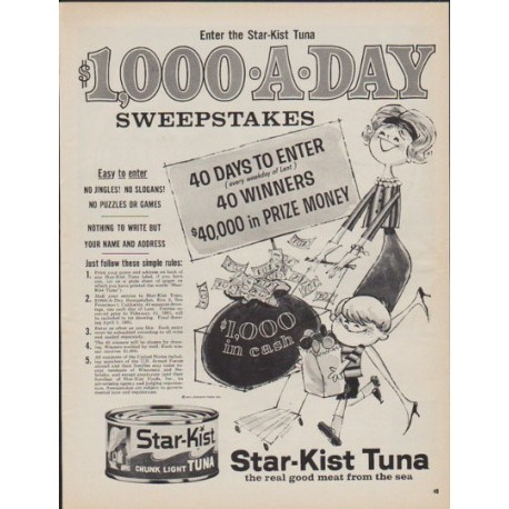 "1961 Star-Kist Tuna Ad ""Sweepstakes"""