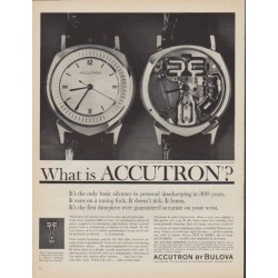 "1961 Accutron by Bulova Ad ""What is Accutron?"""