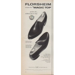"1961 Florsheim Shoes Ad ""Magic Top"""