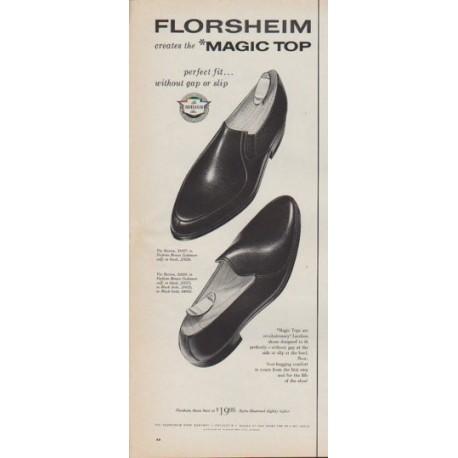 """1961 Florsheim Shoes Ad """"Magic Top"""""""