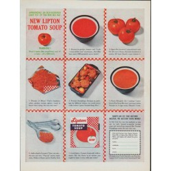 "1961 Lipton Tomato Soup Ad ""An Old-Fashioned Soup"""