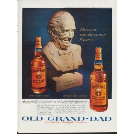 "1960 Old Grand-Dad Bourbon Ad ""Bourbon Family"""