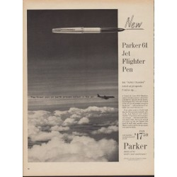 "1960 Parker Pens Ad ""Jet Flighter Pen"""