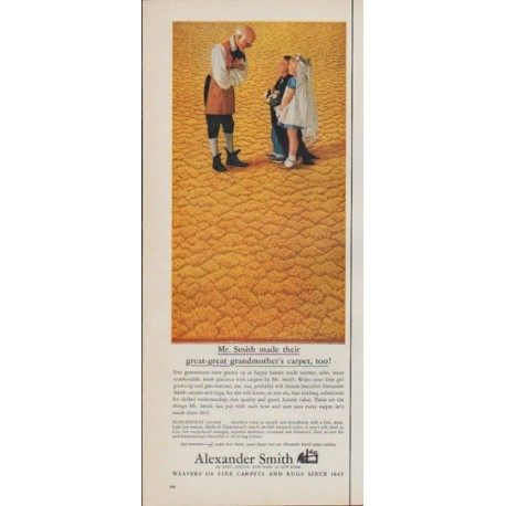"1961 Alexander Smith Carpets Ad ""Mr. Smith"""