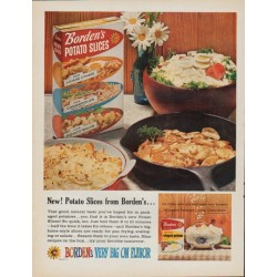 "1961 Borden's Ad ""New ! Potato Slices from Borden's"""