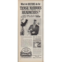 "1961 Anacin Ad ""Tense, Nervous Headaches"""