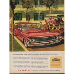 "1960 Pontiac Catalina Ad ""Wide-Track Safari"""