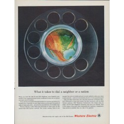 """1961 Western Electric Ad """"dial a neighbor"""""""
