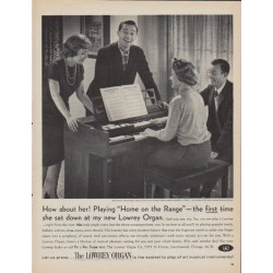 "1961 Lowrey Organ Ad ""How about her!"""