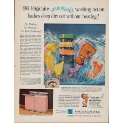 "1961 Frigidaire Ad ""somersault washing action"""