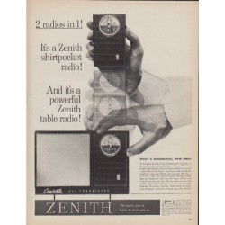 "1961 Zenith Ad ""2 radios in 1"""